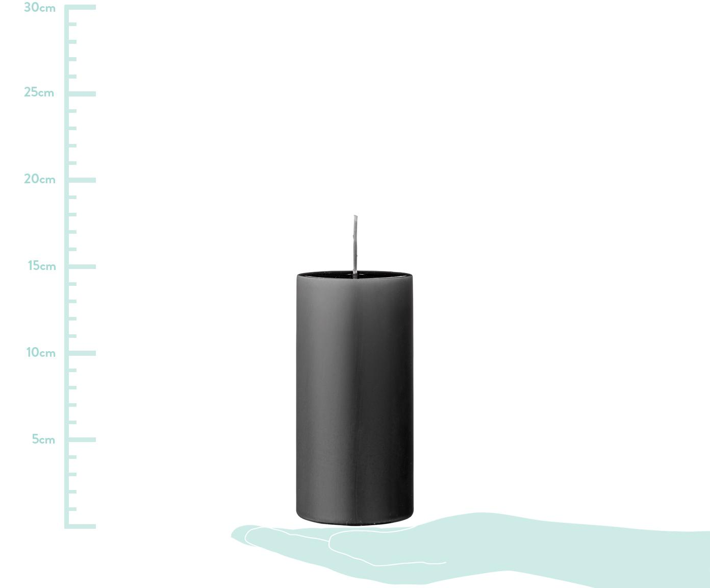 Vilas pilar Lulu, 2uds., Cera, Gris oscuro, Ø 7 x Al 15 cm