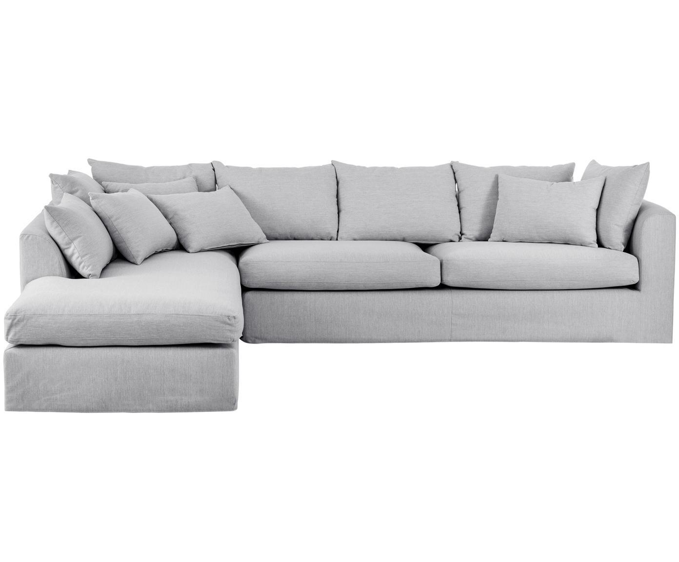 Ecksofa Zach, Bezug: Polypropylen, Füße: Kunststoff, Webstoff Grau, B 300 x T 213 cm