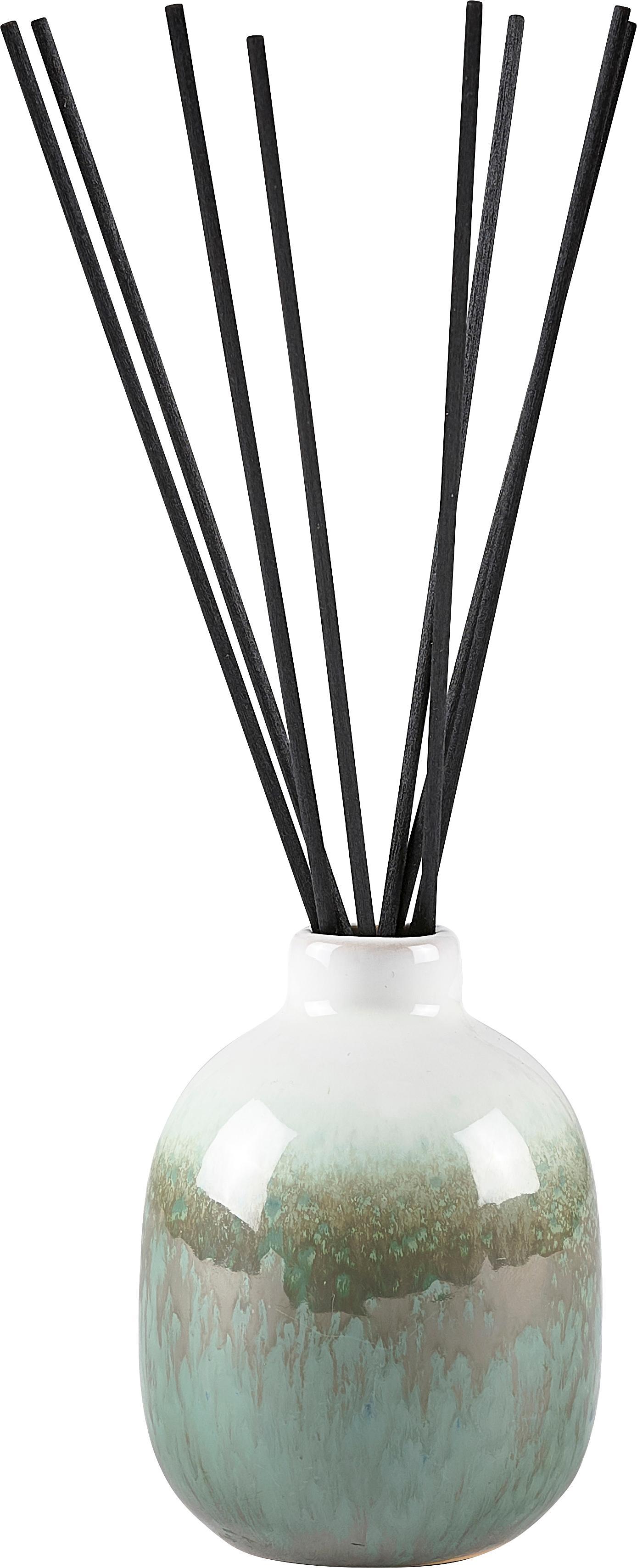 Diffuser Cactus Blossom, Behälter: Keramik, Grüntöne, Beige, Weiss, Ø 7 x H 10 cm