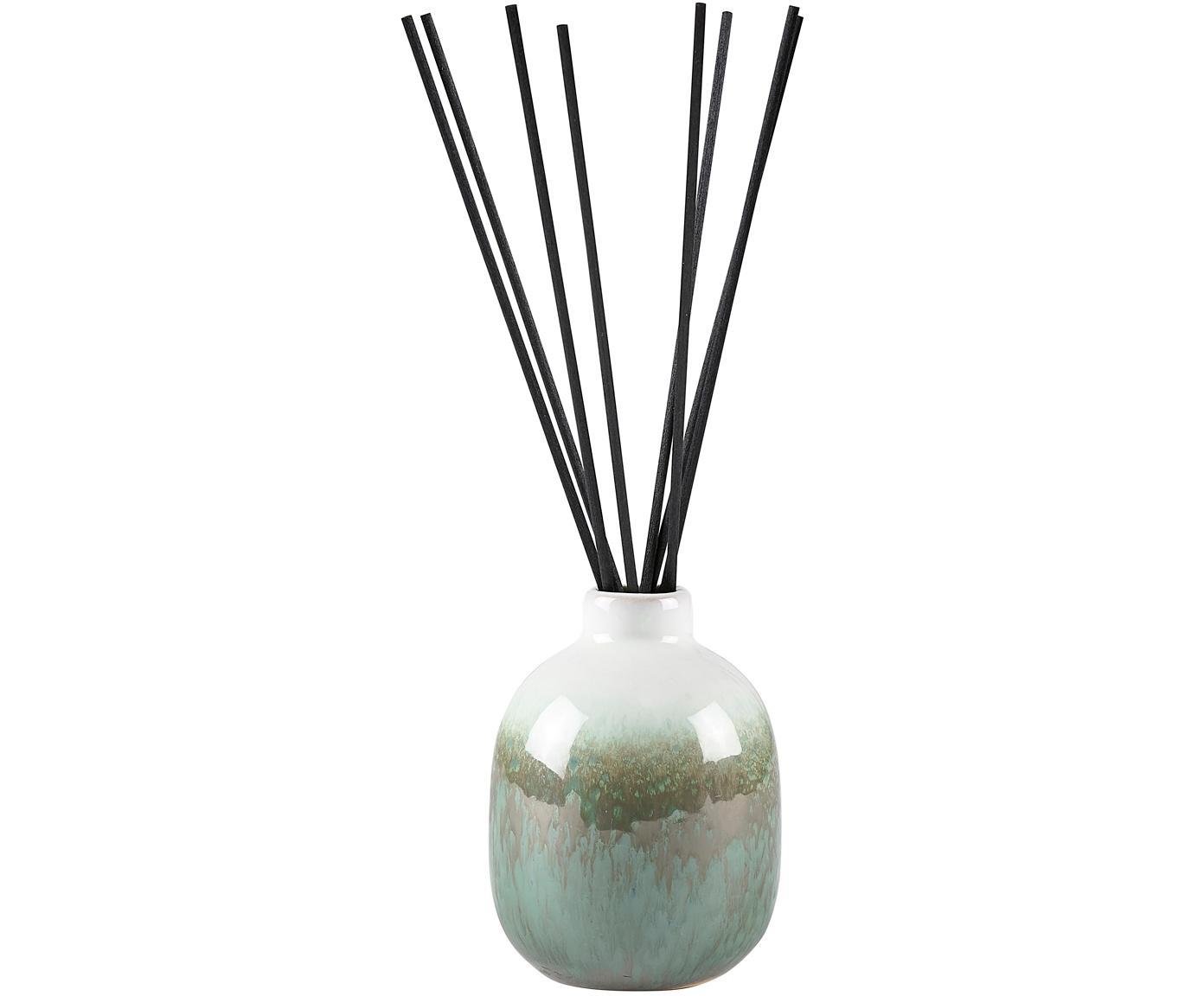 Diffusore Cactus Blossom, Contenitore: ceramica, Verde, beige, bianco, Ø 7 x Alt. 10 cm