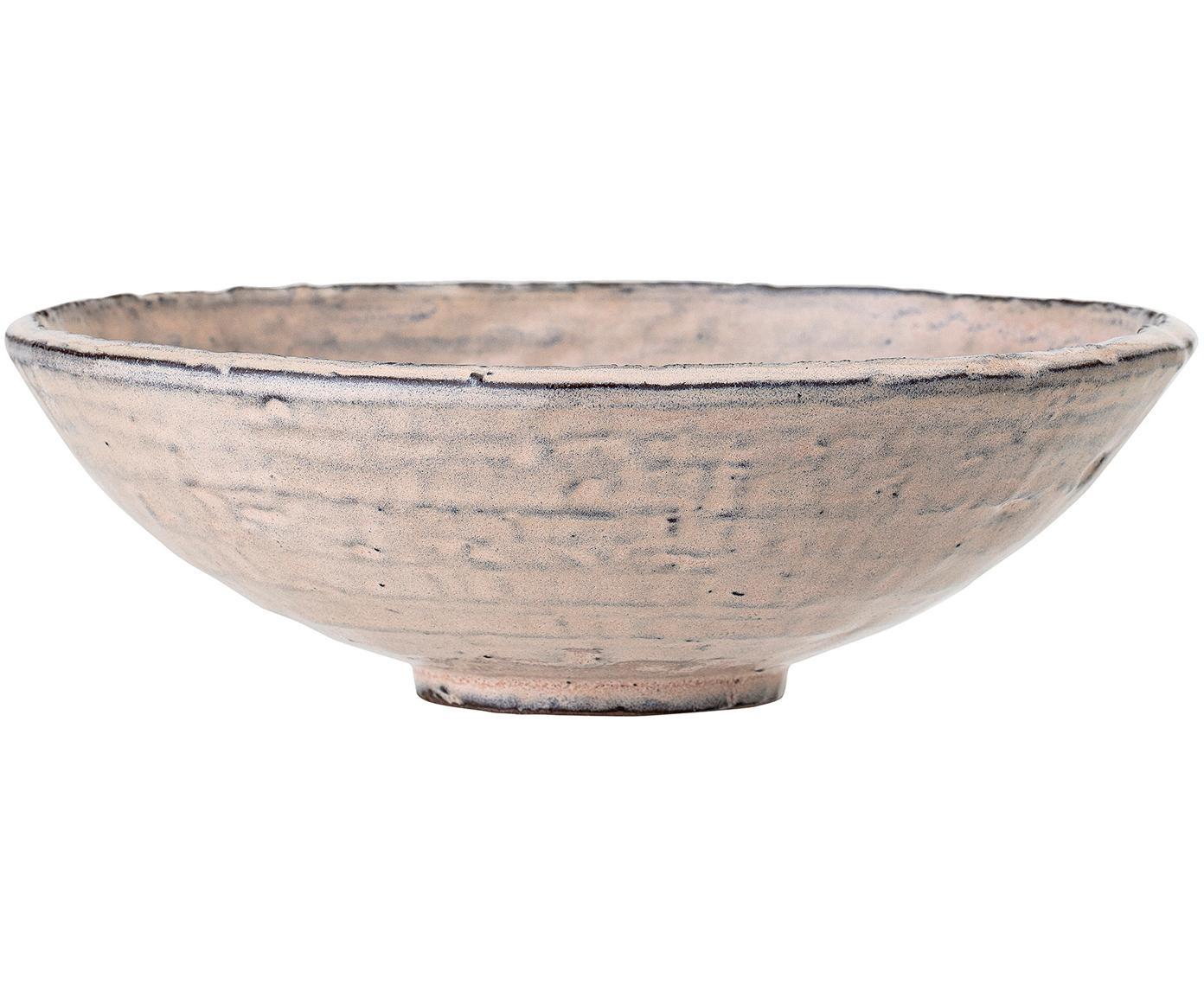 Handgefertigte Schale Alia, Steingut, Beige, Rosa, Ø 21 x H 7 cm