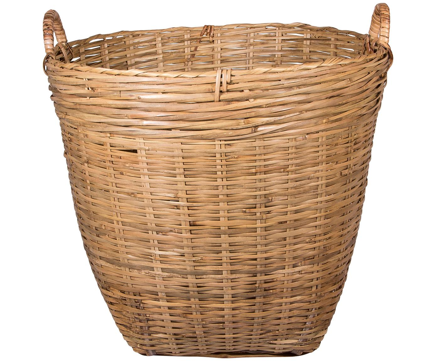 Opbergmand Willa, Bamboehout, Bruin, Ø 45 x H 45 cm