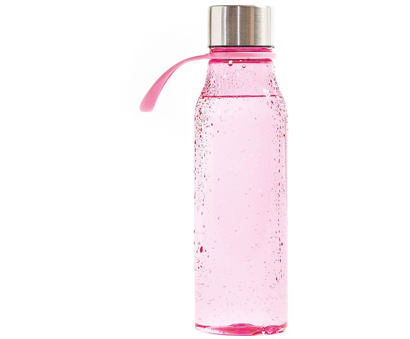 Botella pequeña Lean, Botella: Tritan (plástico), libre , Rosa, acero, Ø 7 x Al 24 cm