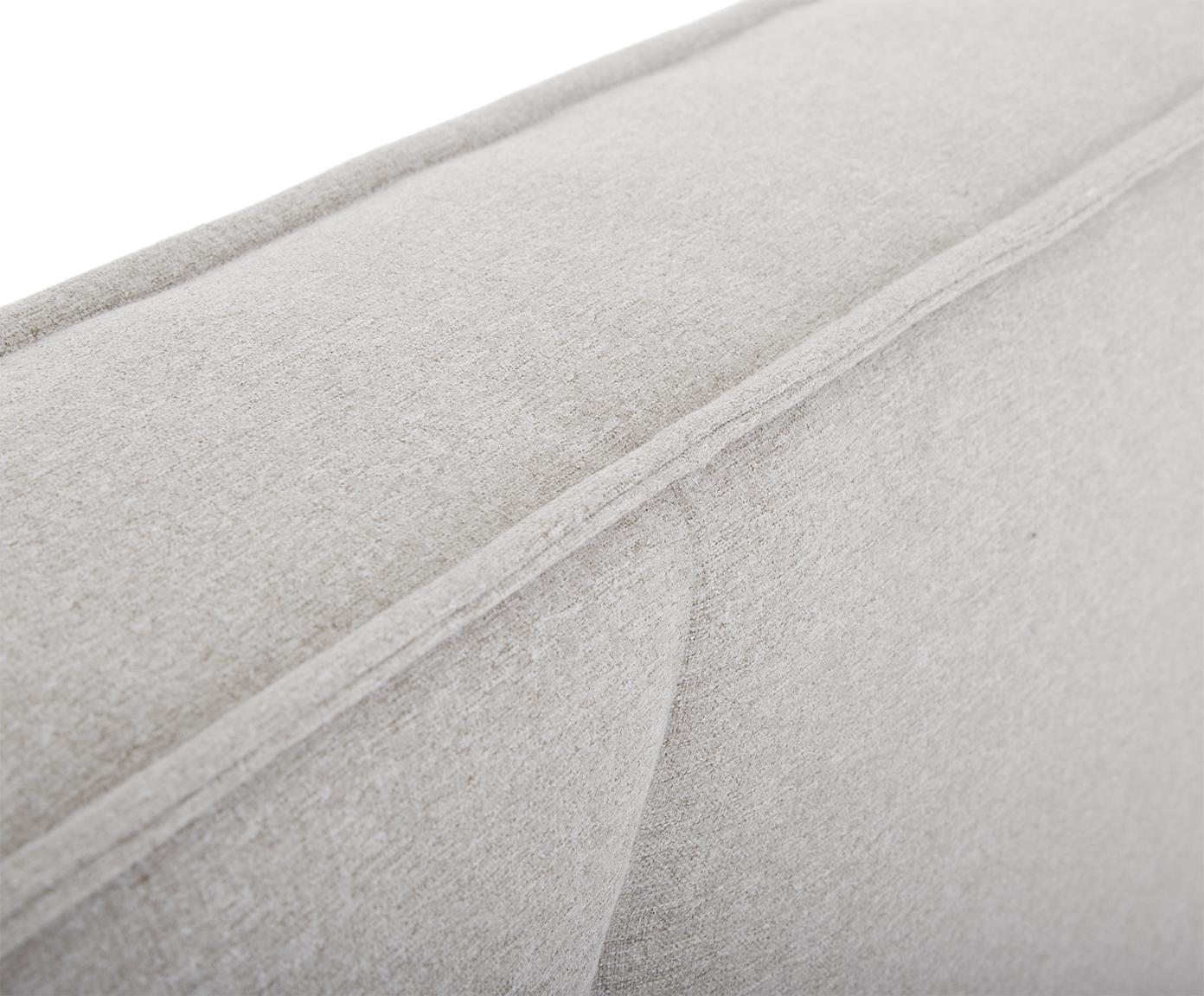 Polsterbett Dream, Korpus: Massives Kiefernholz, Bezug: Polyester (Strukturstoff), Hellgrau, 180 x 200 cm