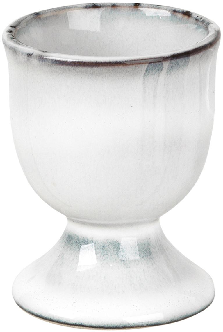 Ręcznie wykonany kieliszek do jajek z kamionki Nordic Sea, 2szt., Kamionka, Piaskowy, Ø 5 x W 6 cm