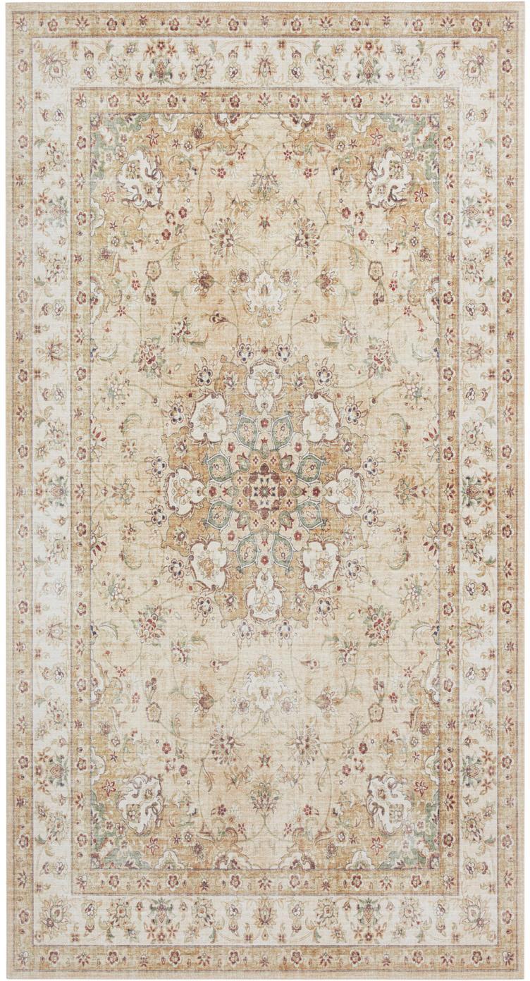Teppich Nain im Orient Style, Gelb, Beigetöne, B 80 x L 150 cm (Größe XS)
