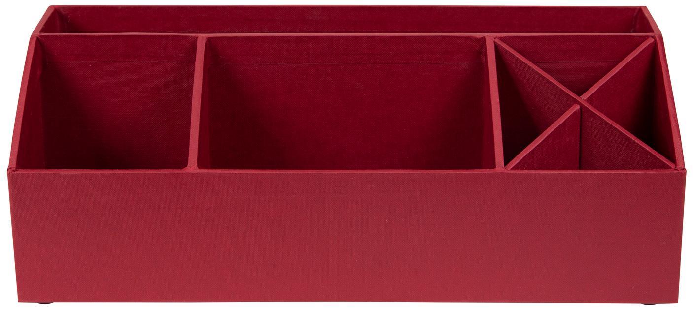 Organizador de escritorio Elisa, Cartón laminado macizo, Rojo oscuro, An 33 x Al 13 cm