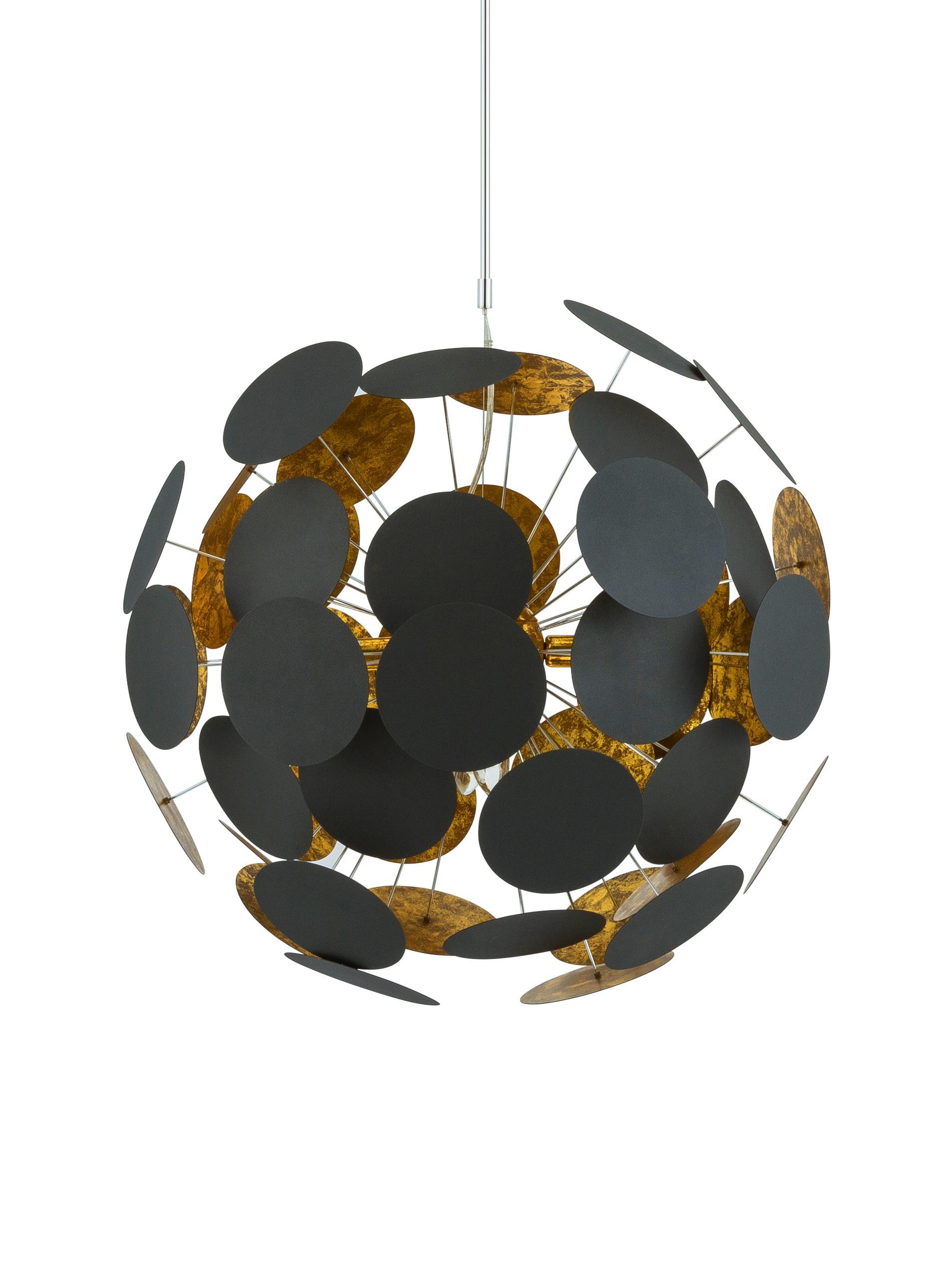 Lampada a sospensione Planet, Nero, rame, Ø 66 x Alt. 66 cm