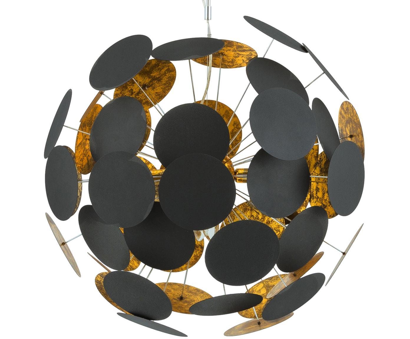Lámpara de techo XLPlanet, Negro,cobre, Ø 66 x Al 66 cm