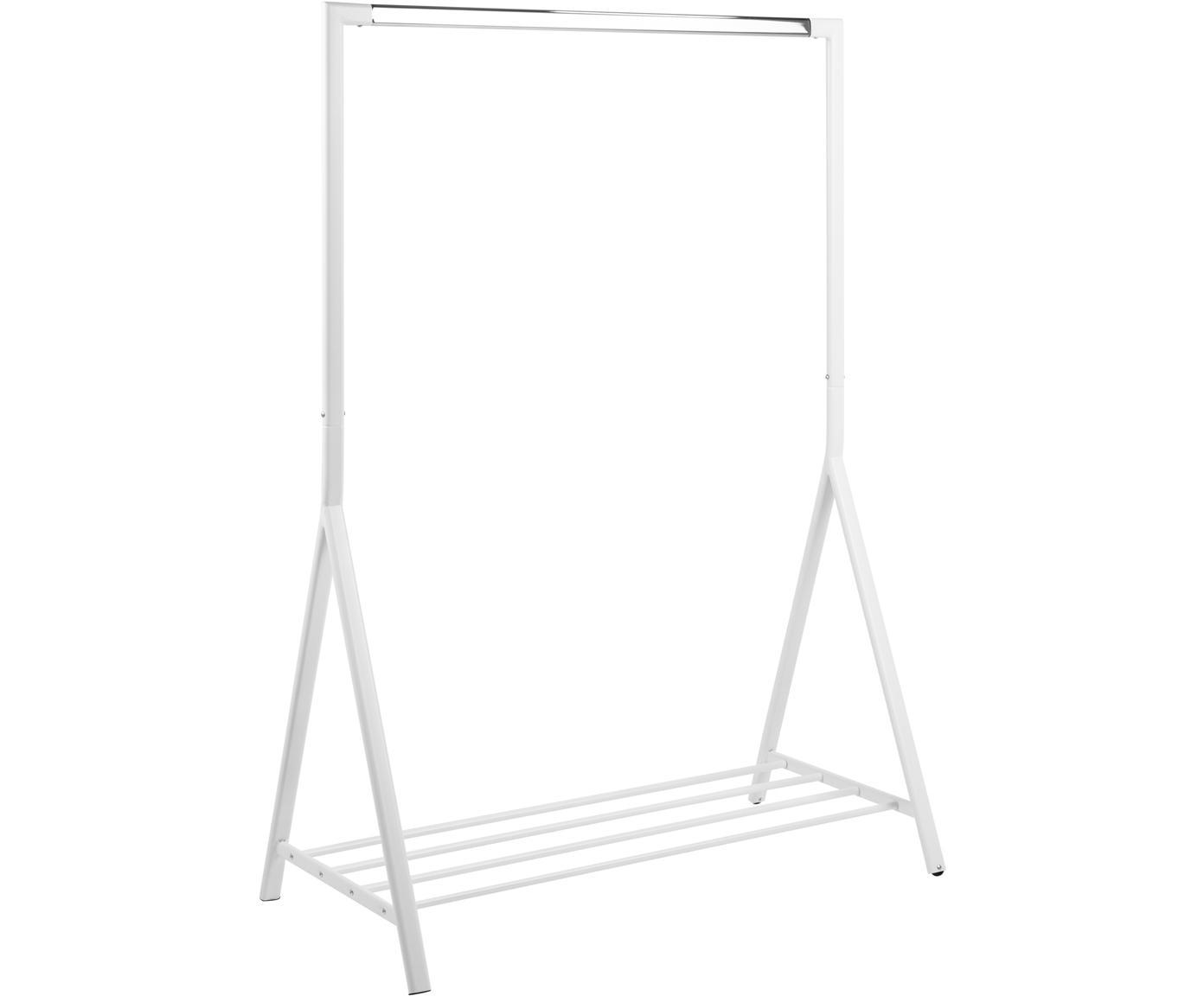 Wieszak stojący z półką Brent, Metal malowany proszkowo, Biały, S 117 x G 59 cm