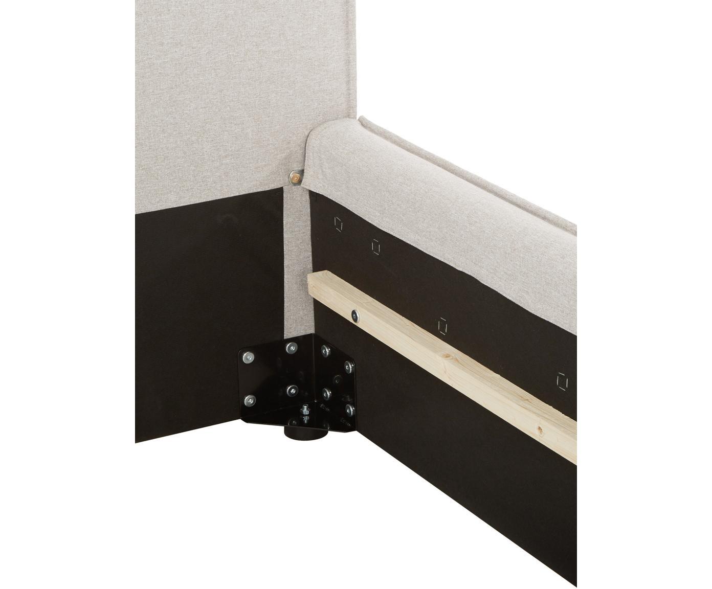 Letto matrimoniale imbottito Dream, Rivestimento: Poliestere (tessuto strut, Tessuto beige, 180 x 200 cm