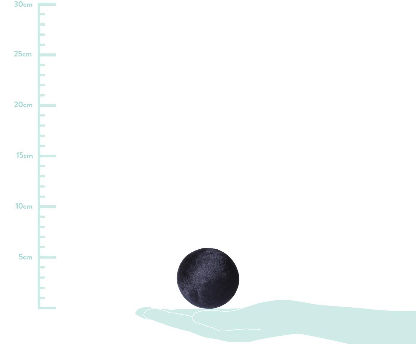 Samt-Wandhaken Peg, Front: Polyestersamt, Dunkelblau, Messing, Ø 6 x T 6 cm