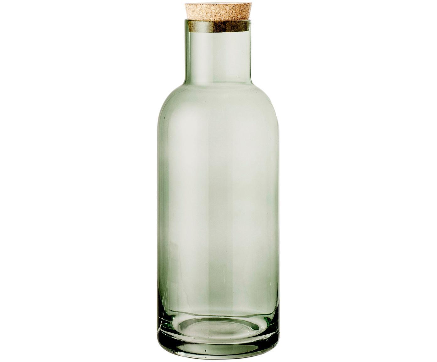 Caraffa verde trasparente Clearance, Coperchio: sughero, Verde trasparente, 1 l