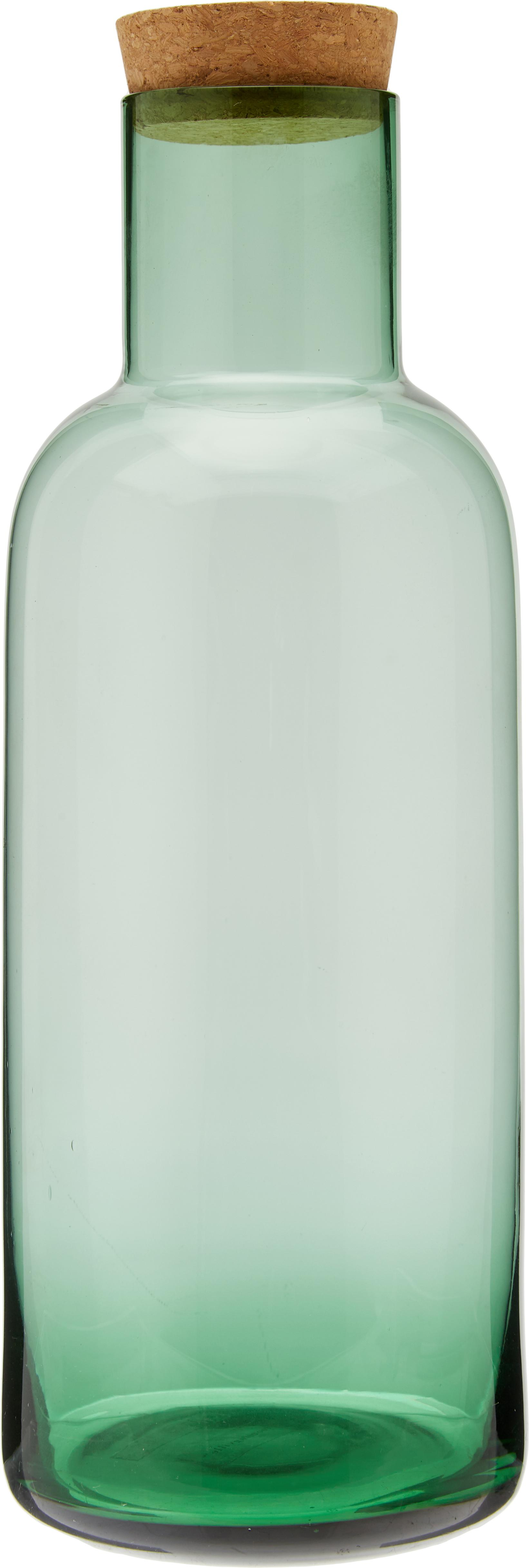 Karaffe Clearance in Grün transparent, Deckel: Kork, Grün, transparent, 1 L