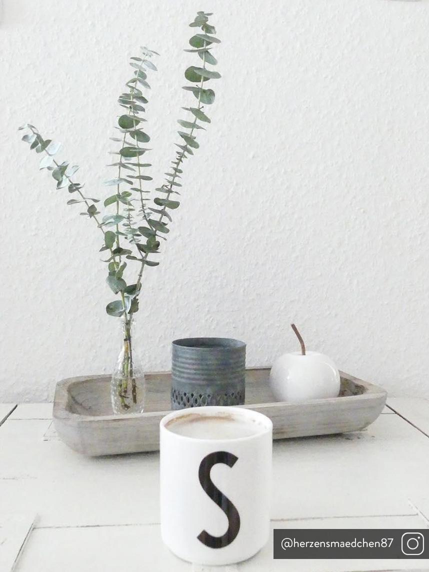 Set di 2 decorazioni da tavolo Alvaro, ass., Gres, Bianco, marrone, Ø 13 x A 12 cm