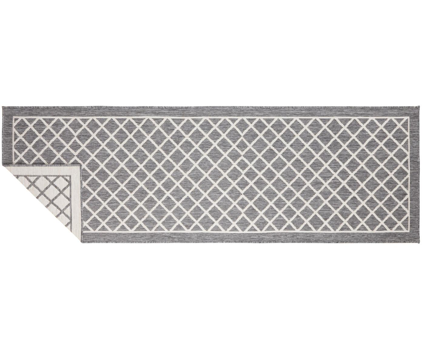 Passatoia reversibile da interno-esterno Sydney, Grigio, crema, Larg. 80 x Lung. 250 cm