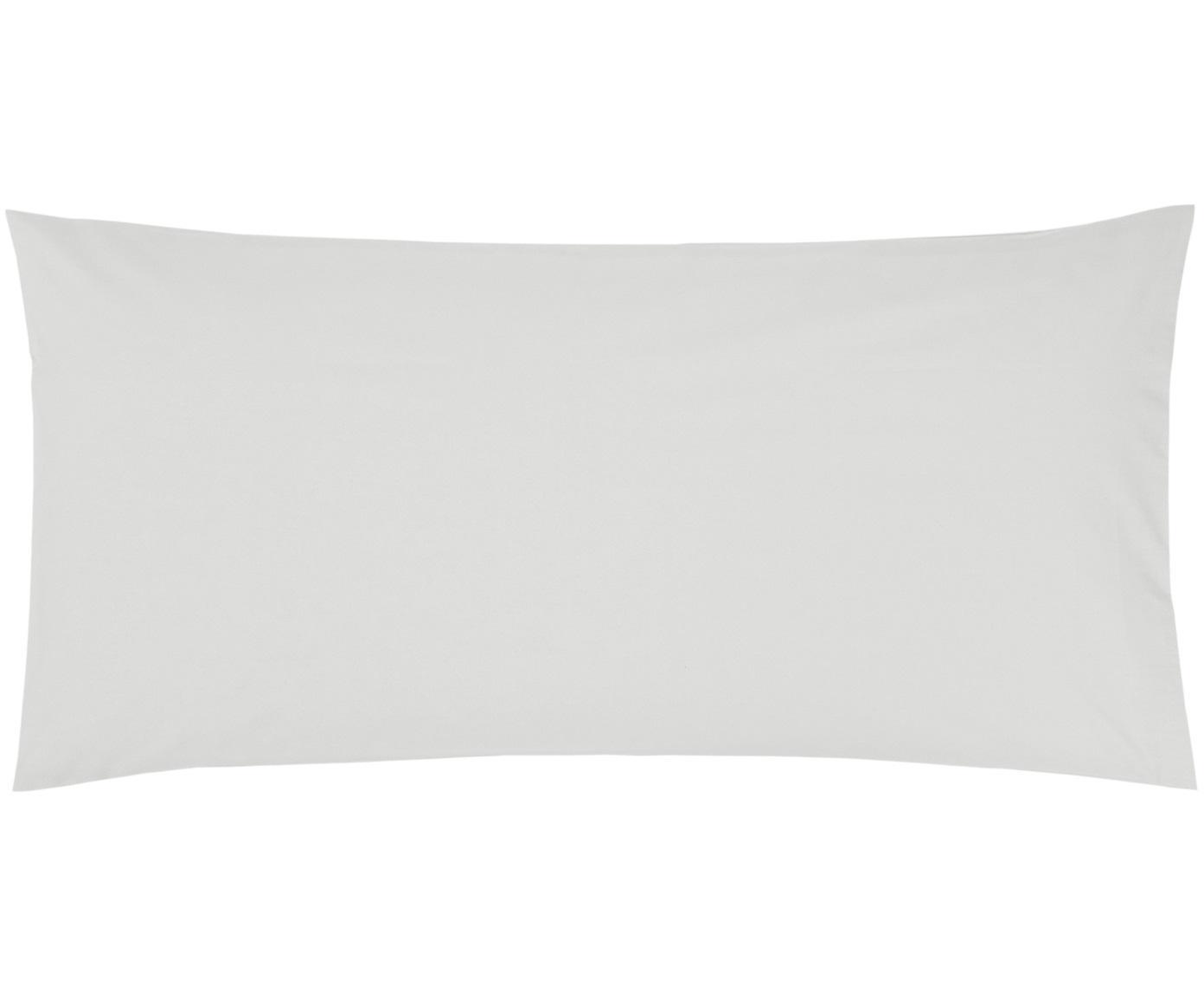 Baumwollperkal-Kissenbezüge Elsie in Hellgrau, 2 Stück, Webart: Perkal Fadendichte 200 TC, Hellgrau, 40 x 80 cm