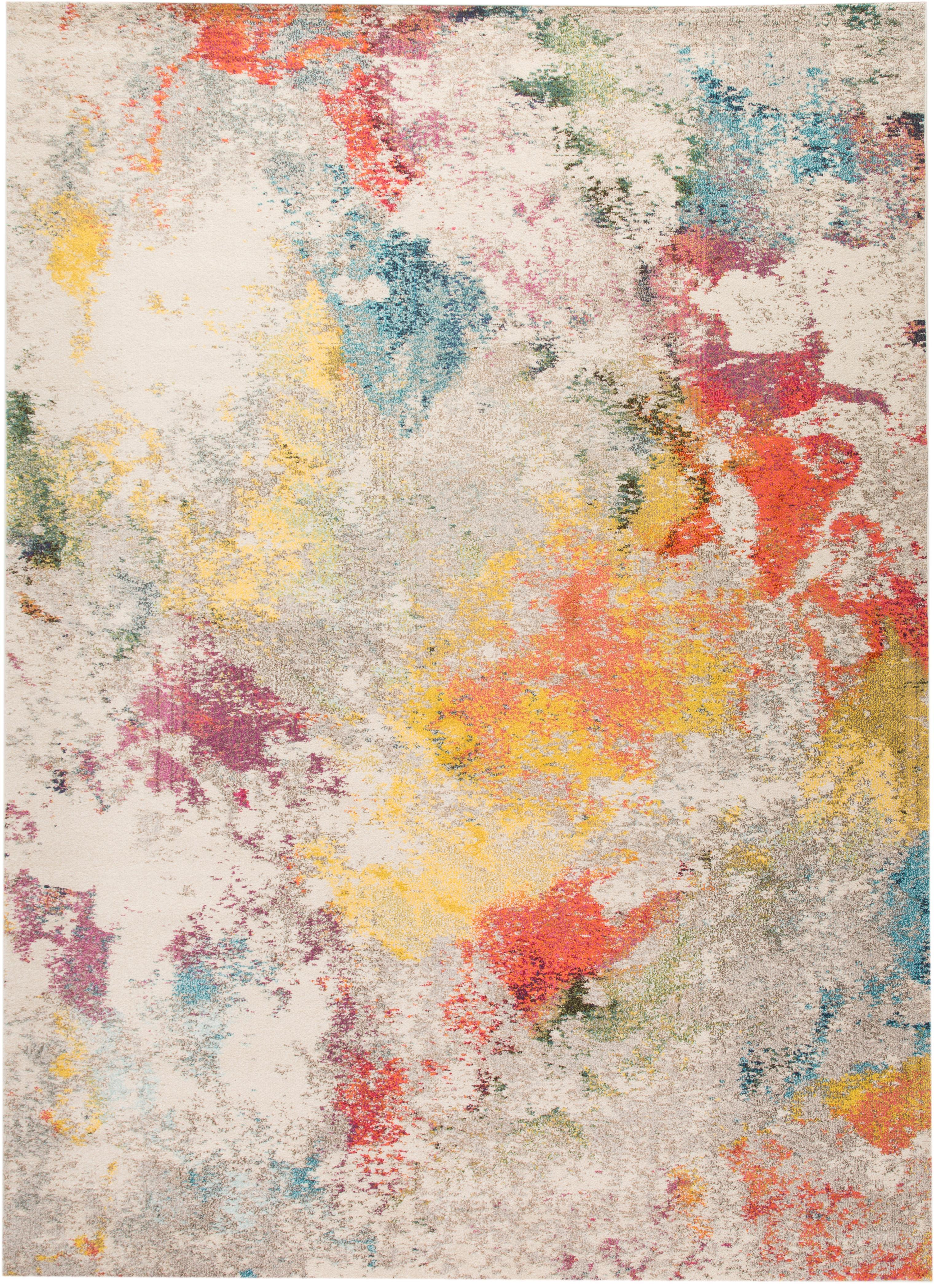 Design vloerkleed Celestial in kleur, Bovenzijde: 100% polypropyleen, Onderzijde: jute, Multicolour, 240 x 320 cm