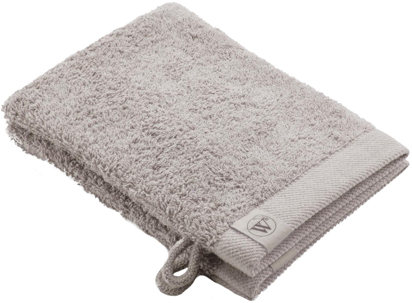 Guanto spugna da doccia/bagno Blend 2 pz, 65% cotone riciclato, 35% poliestere riciclato, Grigio chiaro, Larg. 16 x Lung. 21 cm