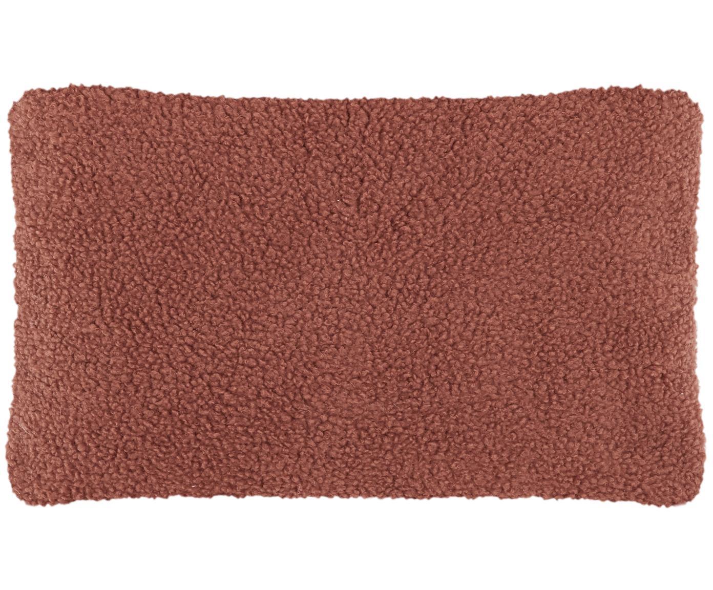 Funda de cojín de borreguillo Mille, Parte delantera: 100%poliéster (borreguil, Parte trasera: 100%poliéster (borreguil, Terracota, An 30 x L 50 cm