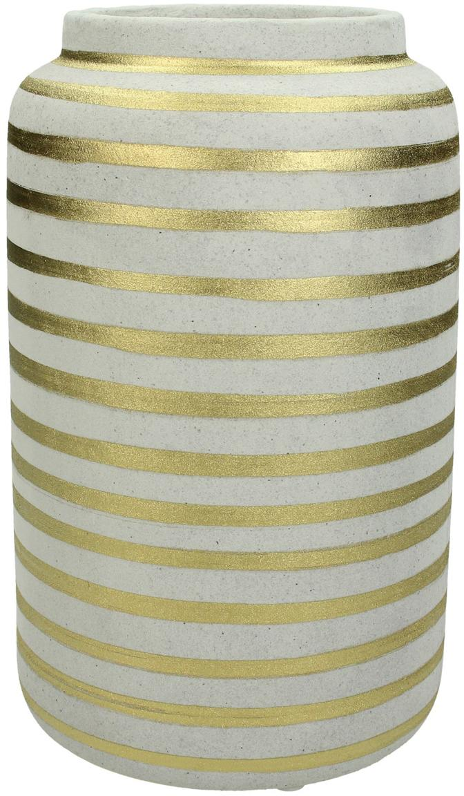 Vaso in terracotta Finesia, Terracotta, Dorato, beige, Ø 14 x Alt. 23 cm