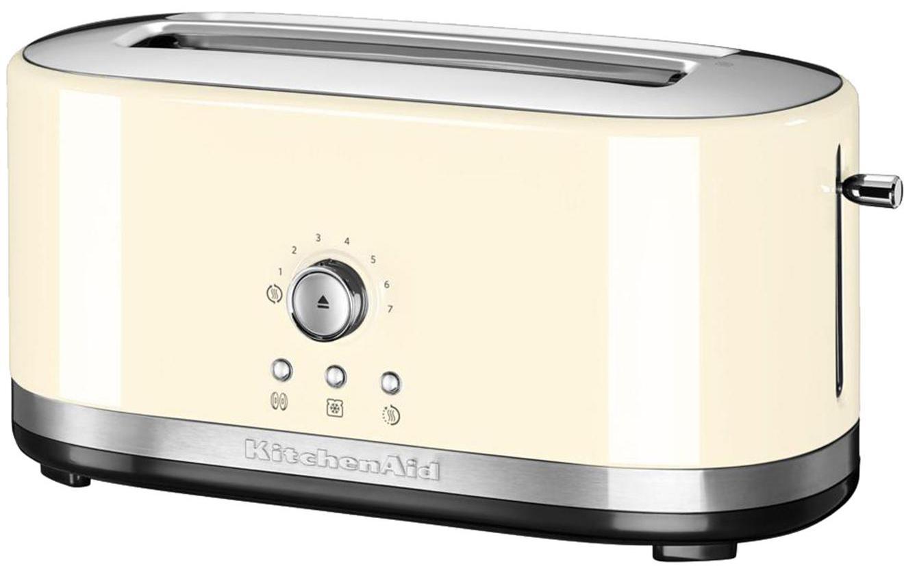 Langschlitz-Toaster KitchenAid, Gehäuse: Aluminiumdruckguss, Edels, Cremefarben, 42 x 20 cm