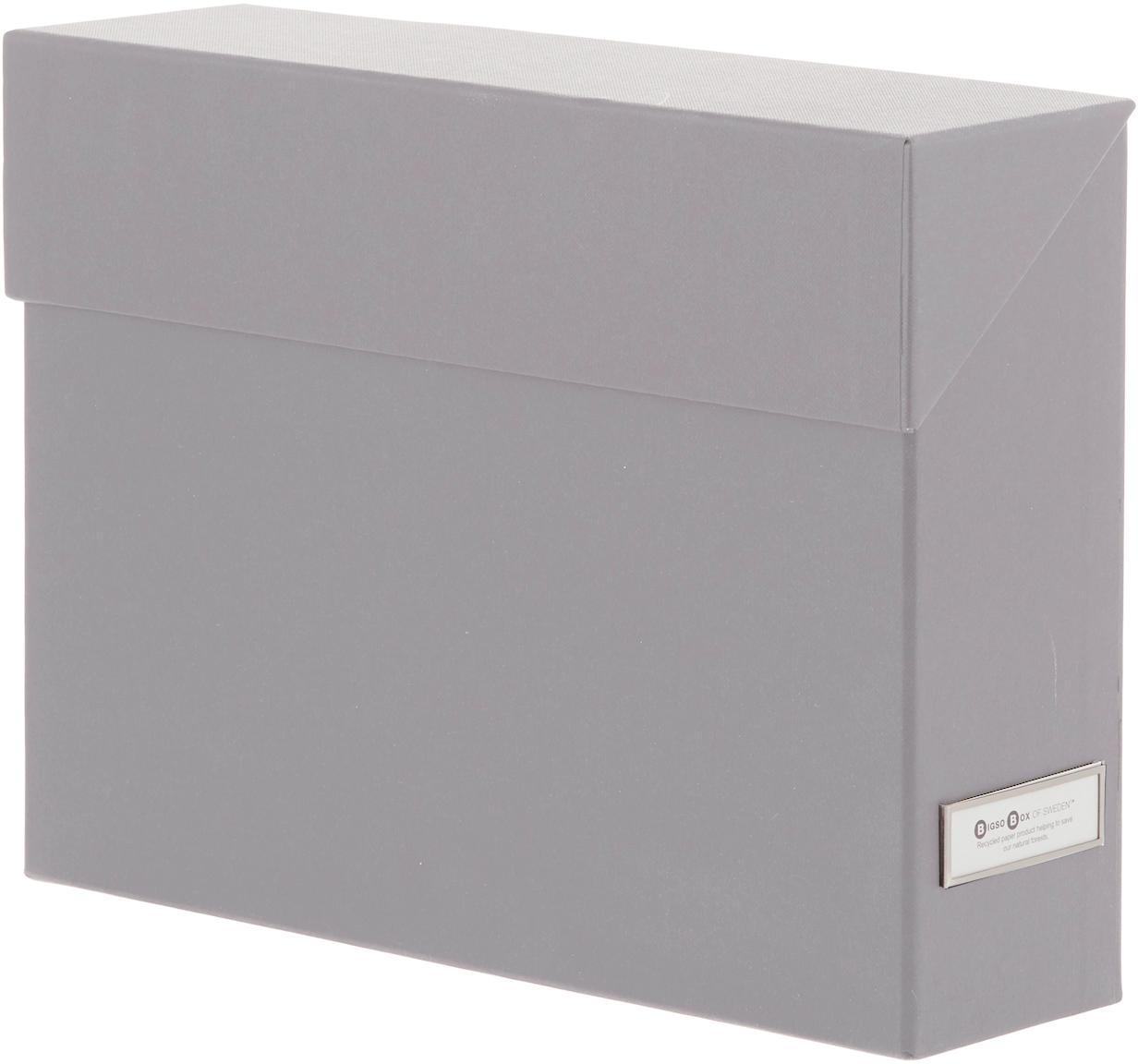 Aktenorganizer Lovisa, 13-tlg., Organizer: Fester, laminierter Karto, Grau, 33 x 24 cm