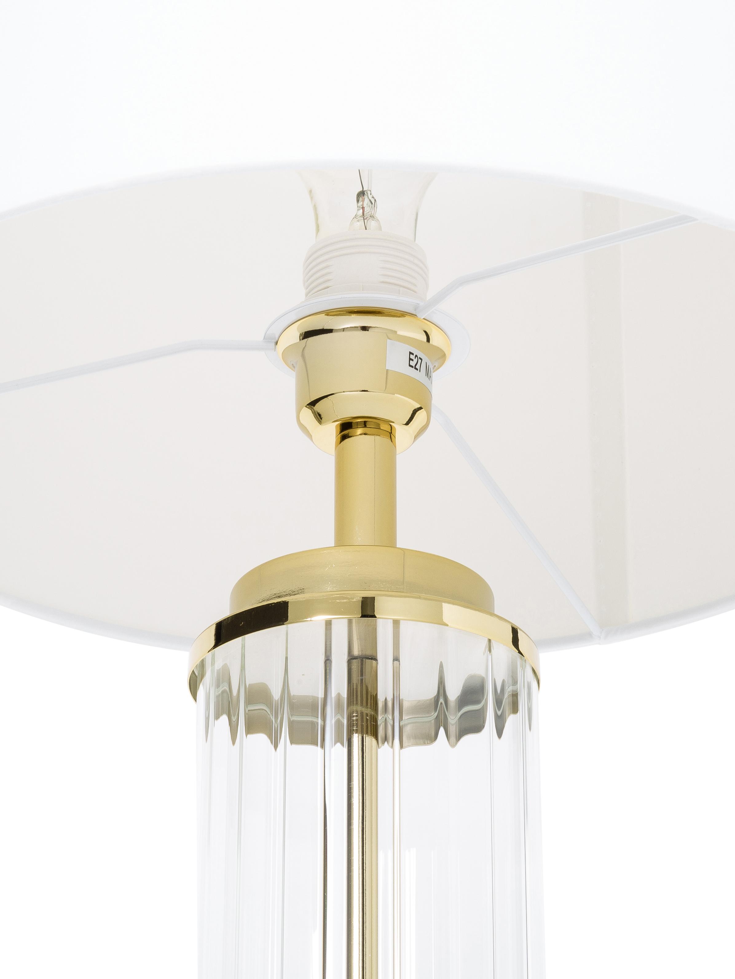 Lampe à poser classique Gabor, Abat-jour: crème Pied de lampe: couleur dorée