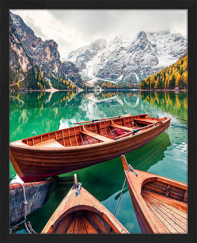 Stampa digitale incorniciata Pleasure Boats, Immagine: stampa digitale su carta,, Cornice: legno verniciato, Multicolore, Larg. 43 x Alt. 53 cm