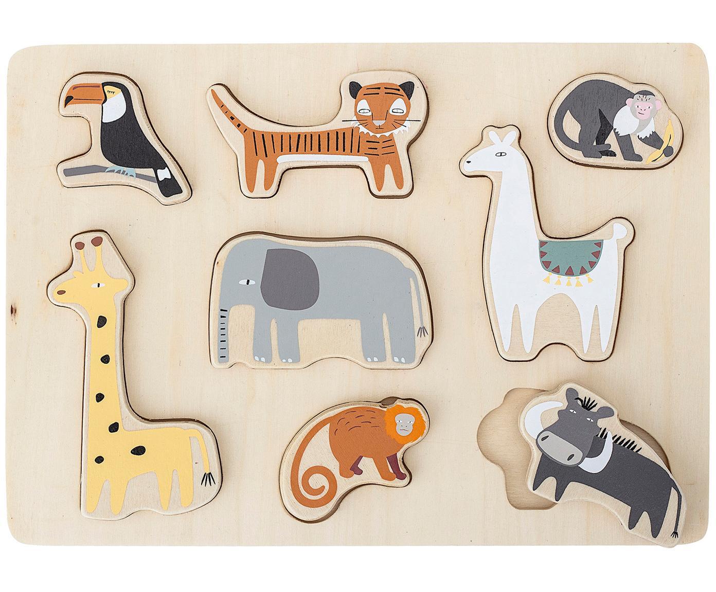 Puzzle de madera Farm, Madera contrachapada, Multicolor, An 28 x Al 2 cm