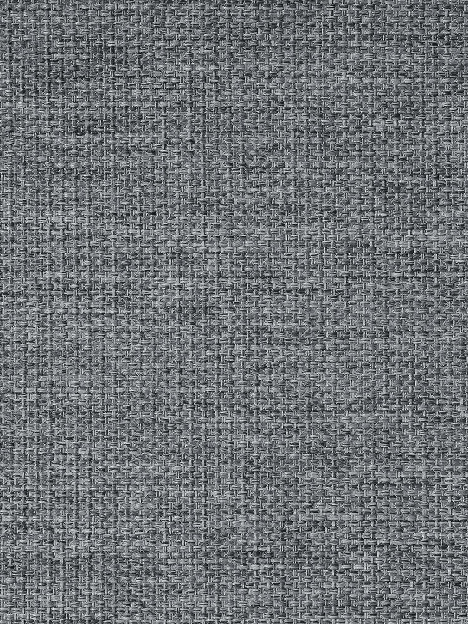 Divano angolare in tessuto grigio Emma, Rivestimento: poliestere 100.000 cicli , Struttura: legno di pino massiccio, Piedini: metallo verniciato a polv, Tessuto grigio, piedini nero, Larg. 302 x Prof. 220 cm