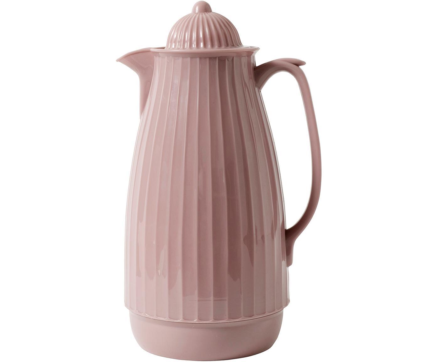 Isolierkanne Juggie, Außen: Kunststoff, Innen: Glas, Rosa, 1 L