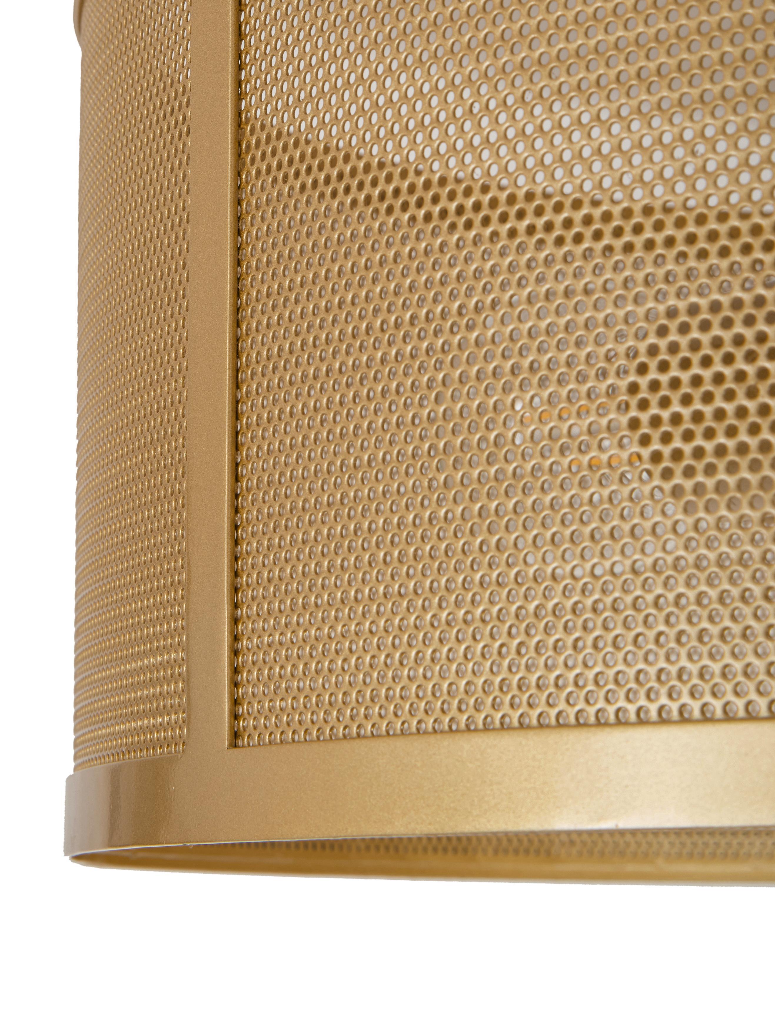 Plafonnier en métal doré Fishnet, Couleur dorée
