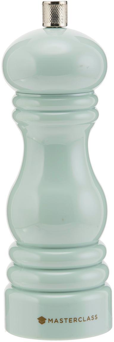 Kleine Gewürzmühle Bailey, Gehäuse: Kunststoff, Mahlwerk: Keramik, Kunststoff, Mintgrün, Silberfarben, Ø 6 x H 18 cm