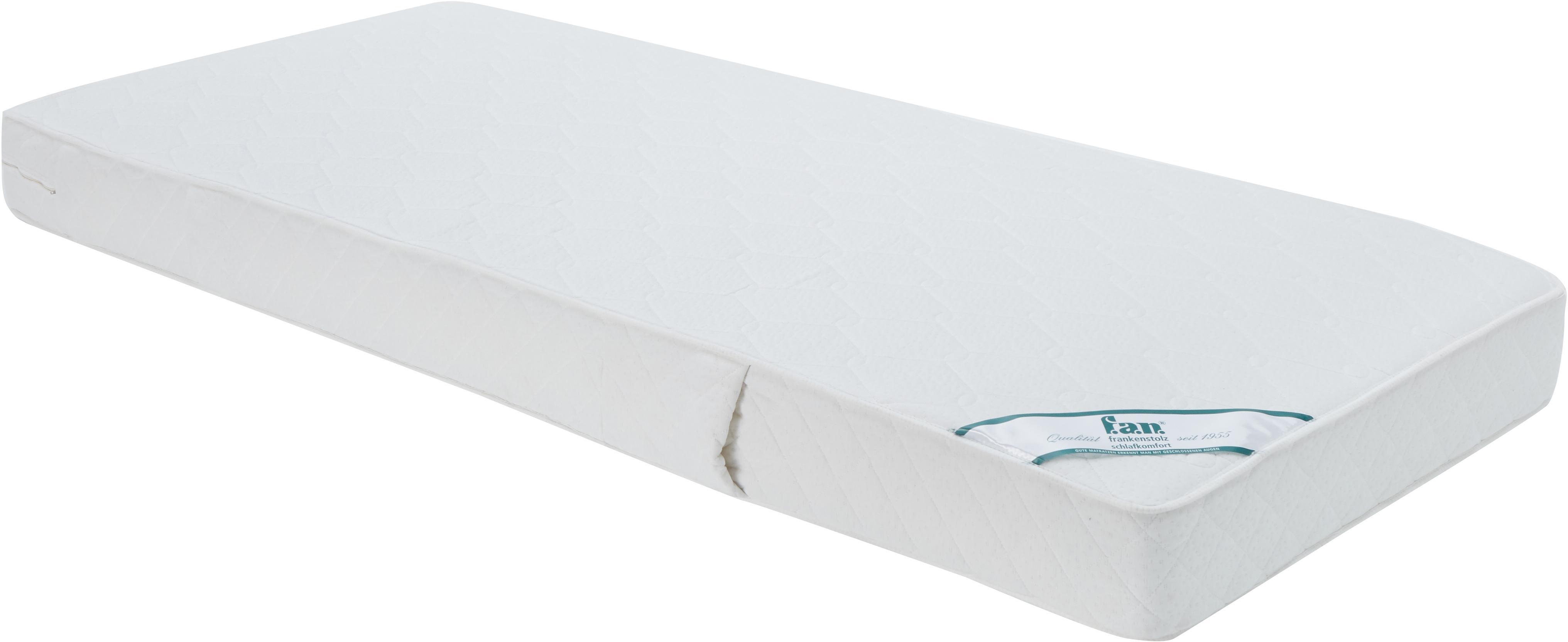 Tonnentaschenfederkern-Matratze Happy, Bezug: Doppeljersey (100% Polyes, Oberseite: ca. 200 g/m² klimaregulie, Unterseite: ca. 200 g/m² klimaregulie, Weiss, 80 x 200 cm