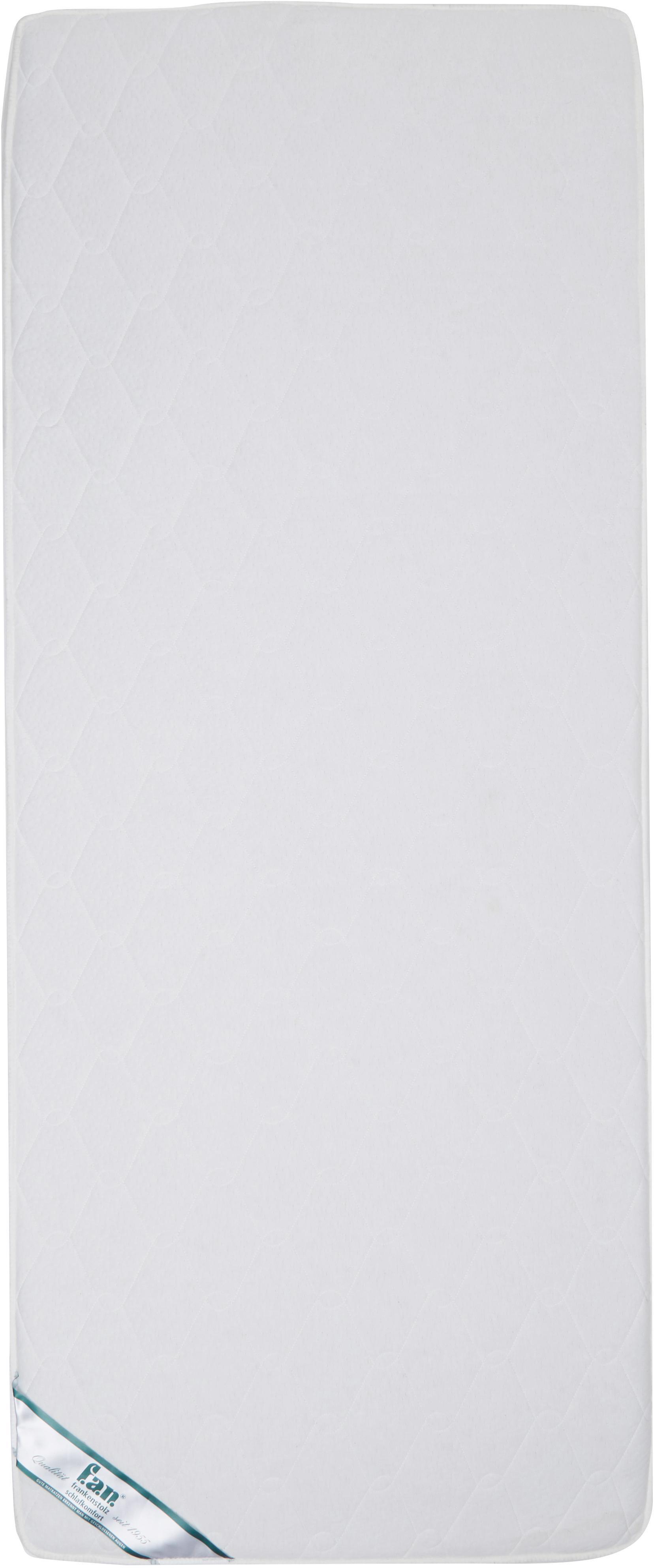 Tonnentaschenfederkern-Matratze Happy, Bezug: Doppeljersey (100% Polyes, Oberseite: ca. 200 g/m² klimaregulie, Unterseite: ca. 200 g/m² klimaregulie, Weiß, 80 x 200 cm