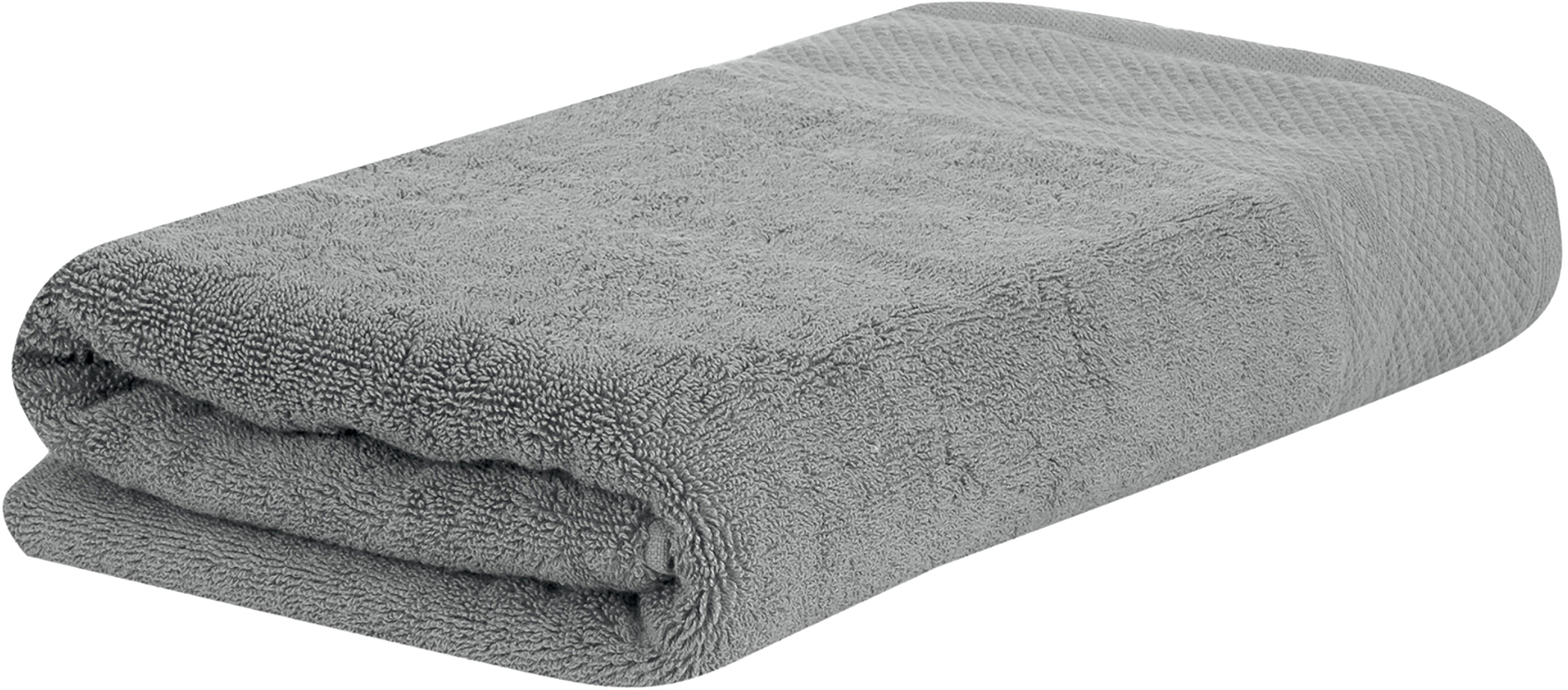 Toalla con cenefa clásica Premium, 100%algodón Gramaje superior 600g/m², Gris oscuro, Toallas de manos