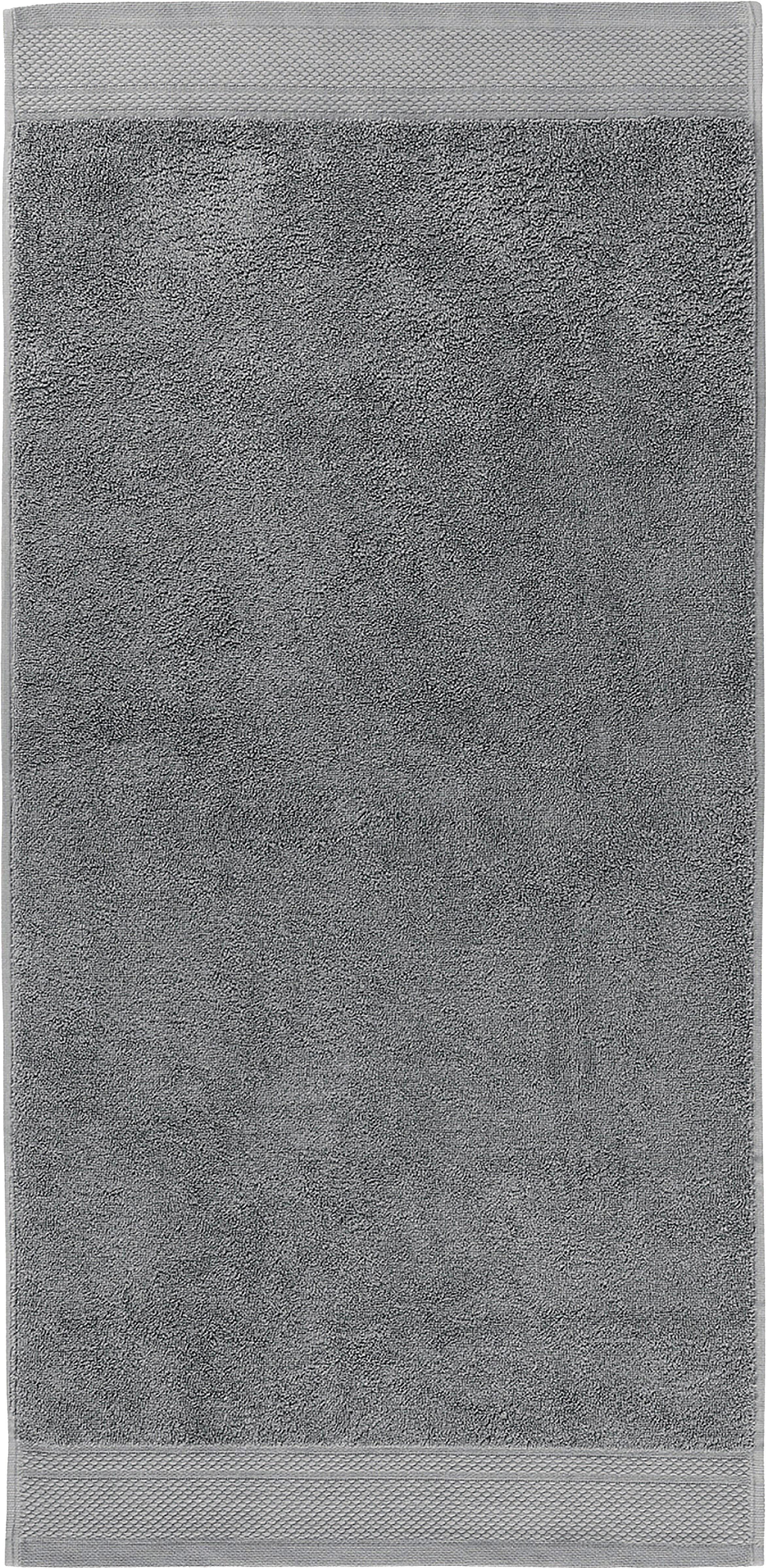Asciugamano con bordo decorativo Premium, Grigio scuro, Asciugamano