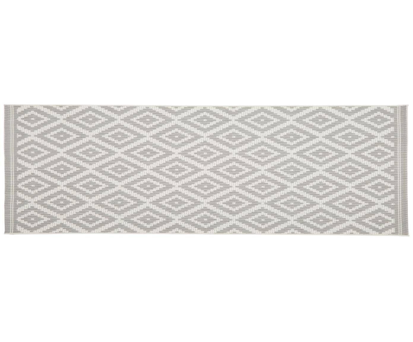 Chodnik wewnętrzny/zewnętrzny Miami, Kremowobiały, szary, S 80 x D 250 cm