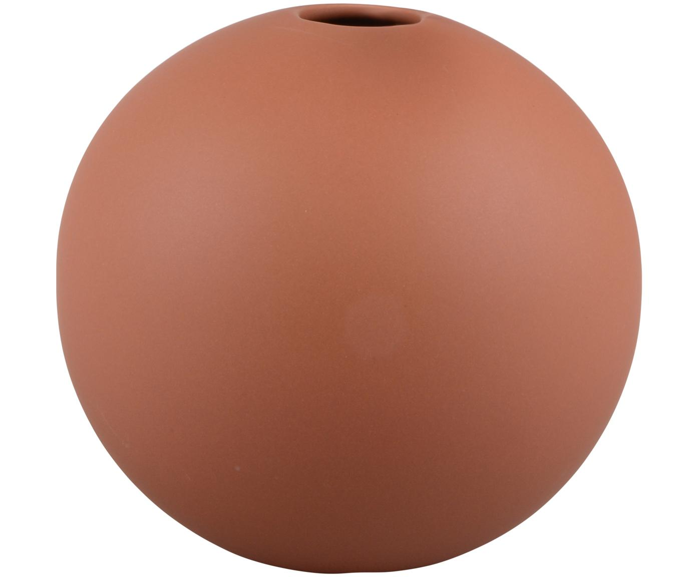 Vaso a sfera in ceramica Rita, Ceramica, Rosso, Ø 12 x Alt. 12 cm