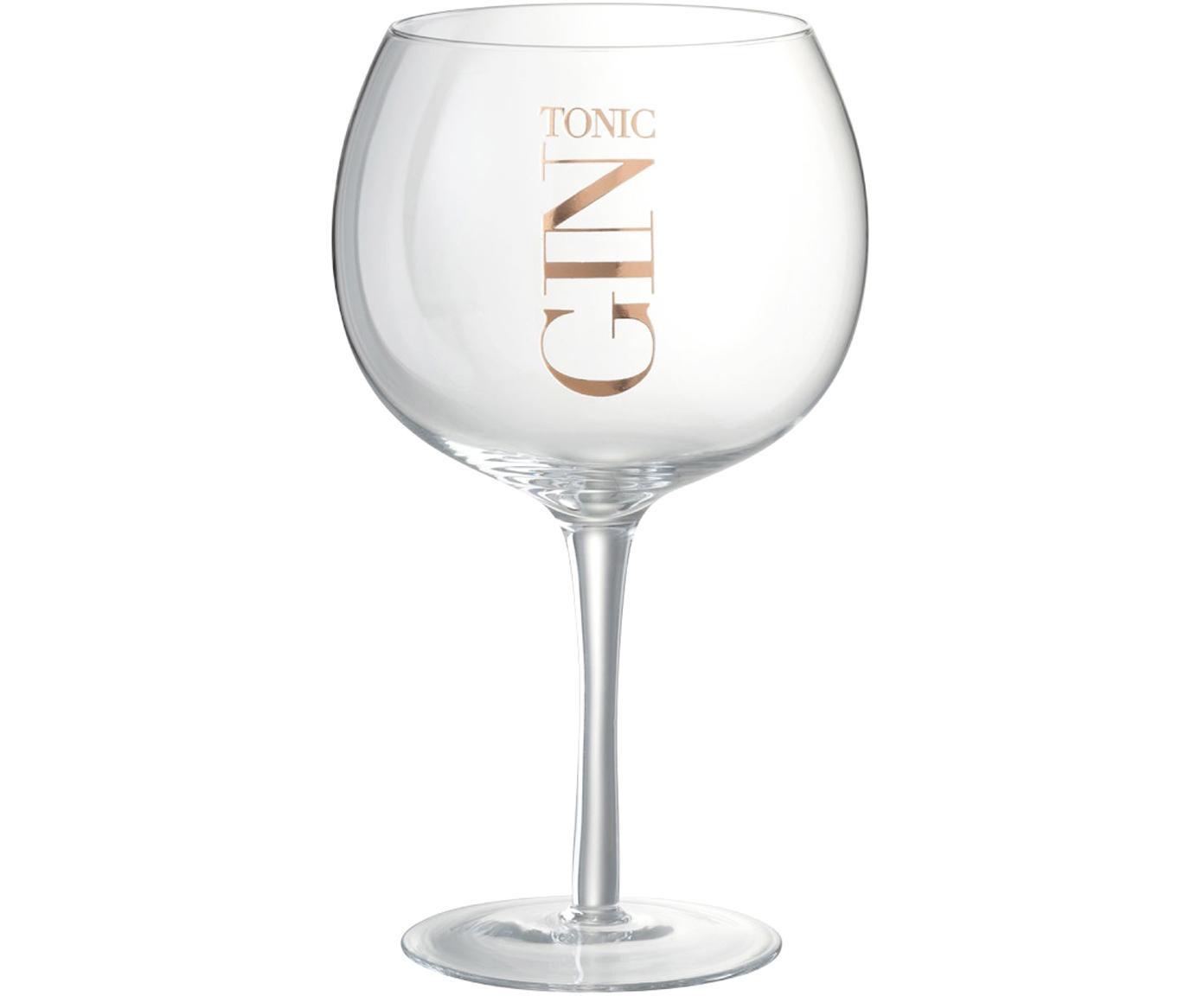 Kieliszek do koktajli Gin Tonic, 6 szt., Szkło, Transparentny, odcienie miedzi, Ø 12 x W 22 cm