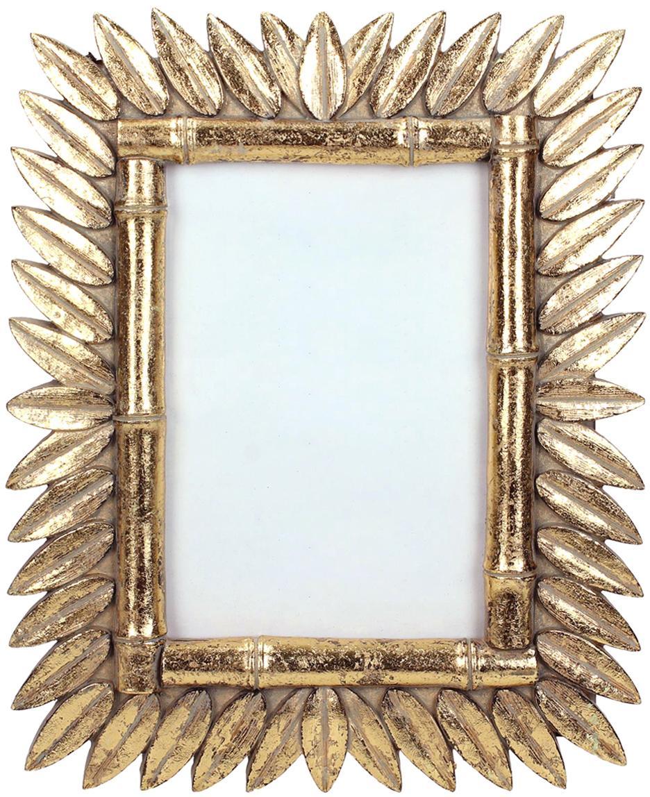 Cornice vintage dorata Sun, Cornice: poliresina, Retro: Pannelli di fibra a media, Ottonato, 9 x 13 cm