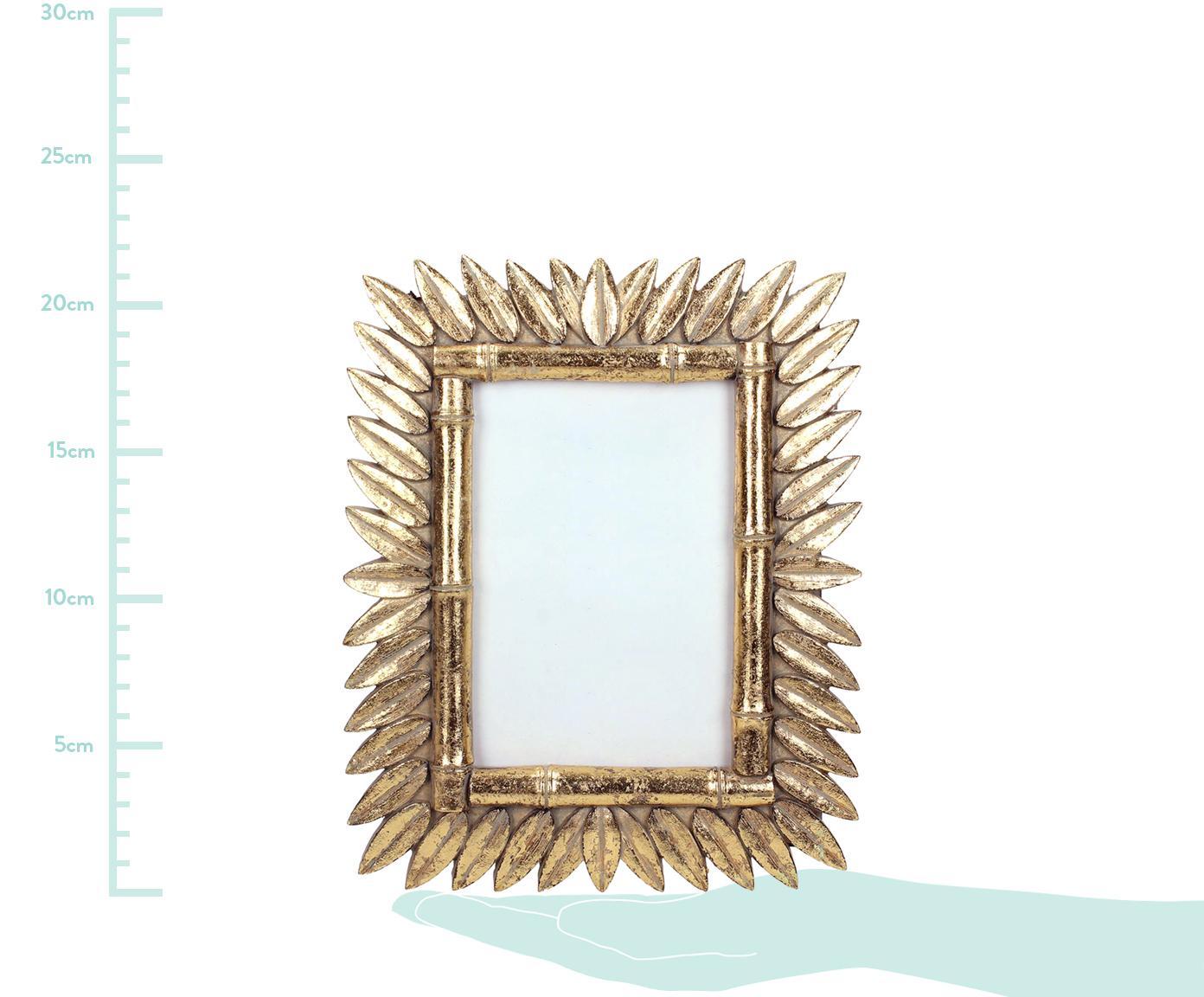 Fotolijstje Sun in antieke optiek, Lijst: polyresin, Messingkleurig, 9 x 13 cm