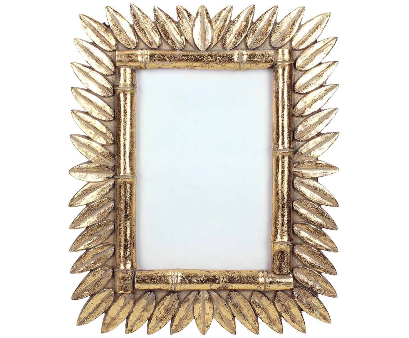 Cornice Sun, Cornice: poliresina, Retro: Pannelli di fibra a media, Ottonato, 9 x 13 cm