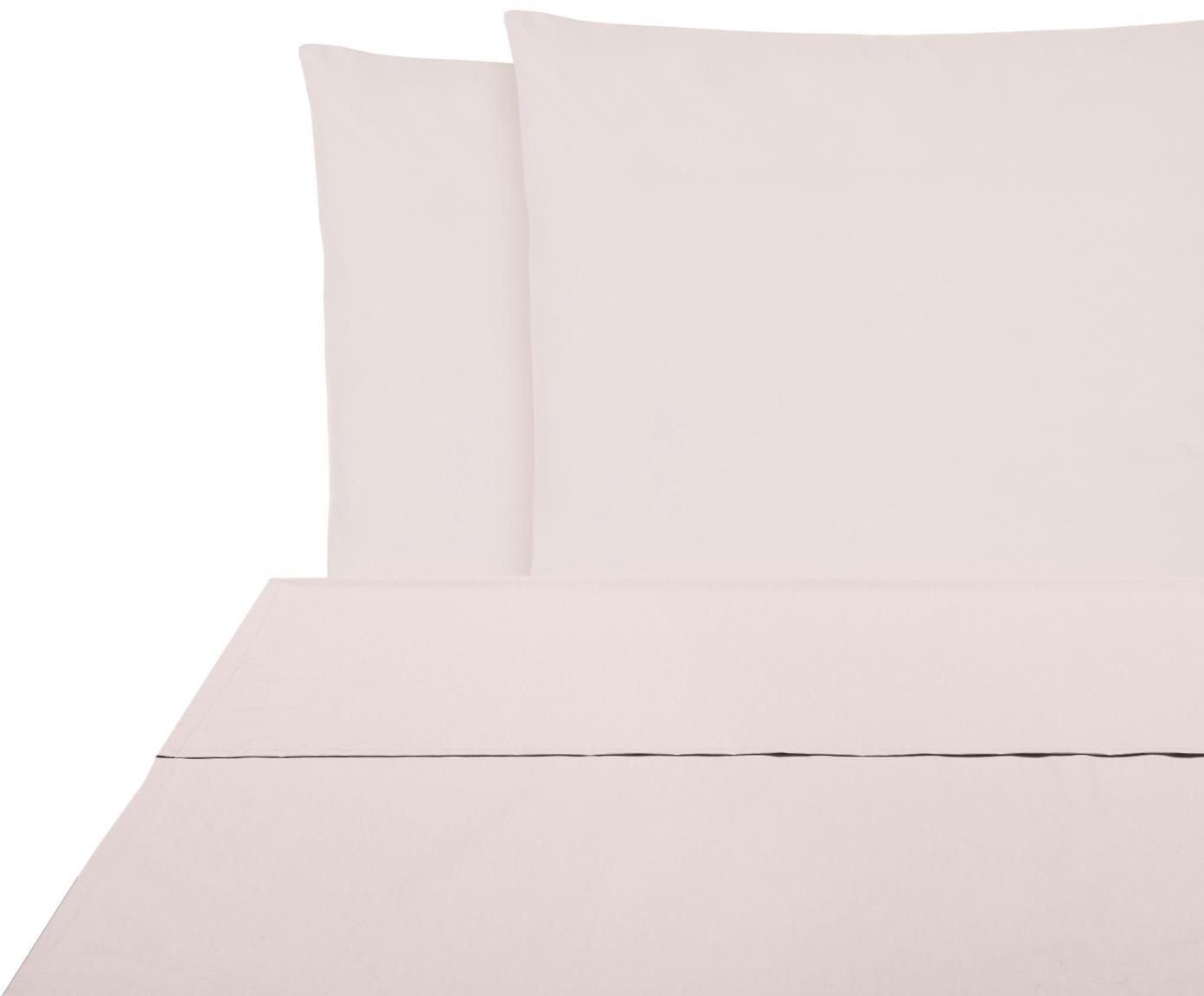 Set lenzuola in percalle Elsie 2 pz, Tessuto: percalle Densità del filo, Rosa, 240 x 300 cm