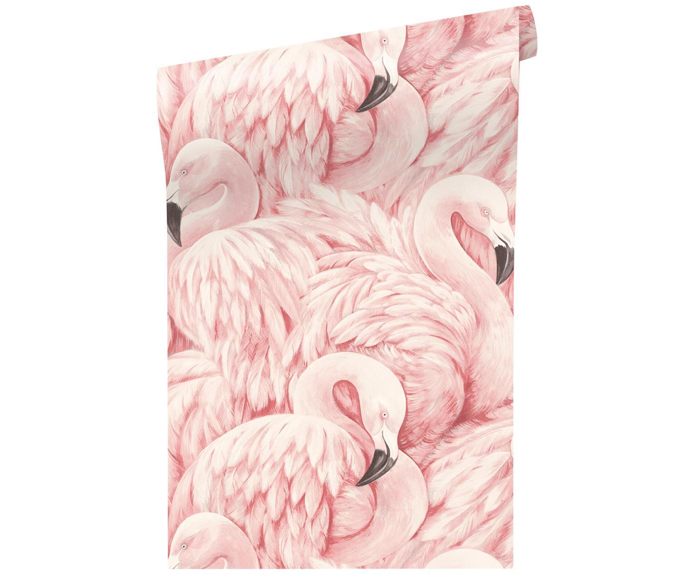 Tapeta Pinky, Włóknina, Różowy, 53 x 1005 cm