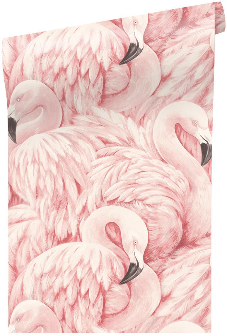 Carta da parati Pinky, Tessuto non tessuto, Tonalità rosa, Larg. 53 x Lung. 1005 cm