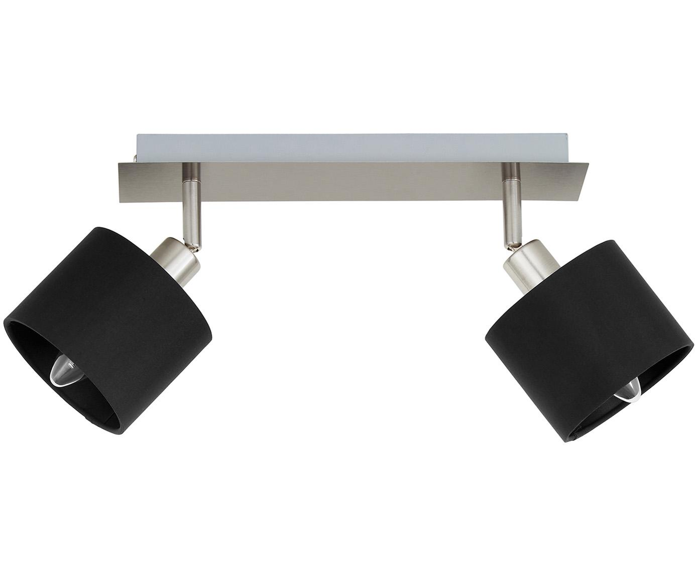 Lampa sufitowa Casper, Odcienie srebrnego, czarny, S 32 x W 7 cm