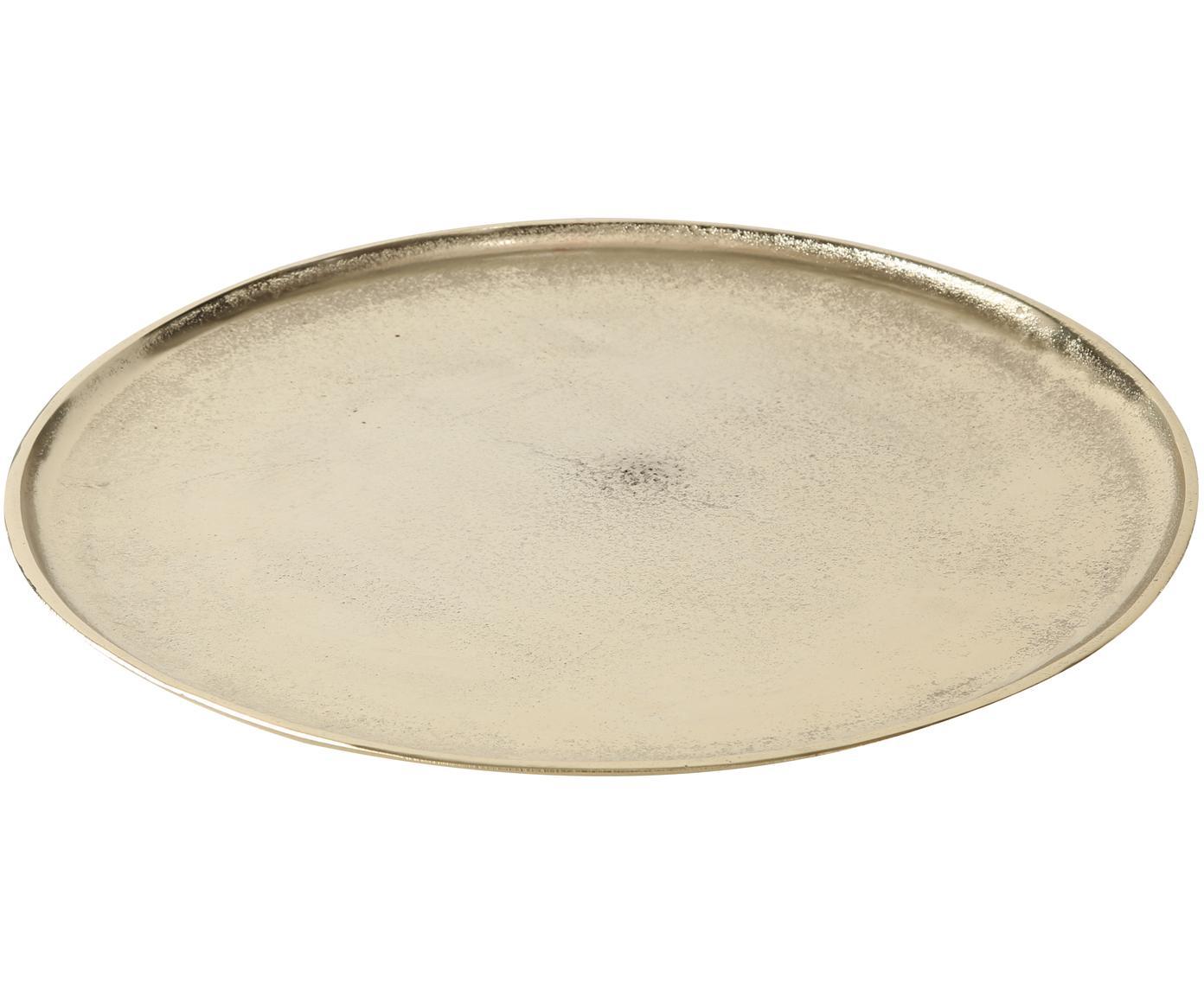 Decoratief dienblad Phönix, Aluminium, Messingkleurig, Ø 42 cm