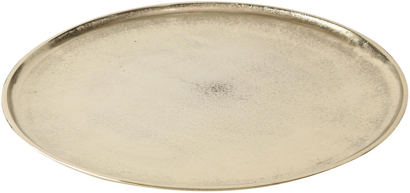 Taca dekoracyjna Phönix, Aluminium, Odcienie mosiądzu, Ø 42 cm
